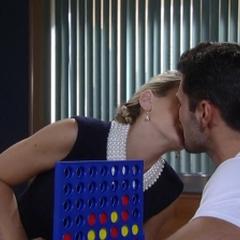 Nathan and Maxie kiss