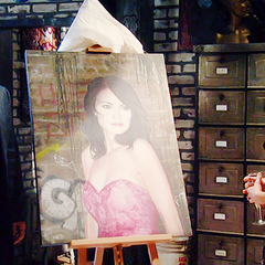 Franco's first painting of Elizabeth