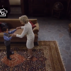 Spencer dances with Grammy Hella