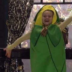 Joss in her corn costume