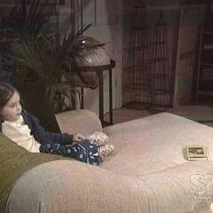Young Christina at home