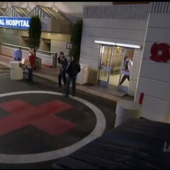 General Hospital's Main Entrance