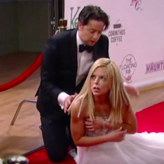 Maxie becomes red carpet road kill after Spinelli steps on her dress