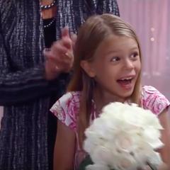 Kiki gives Charlotte Olivia's bouquet