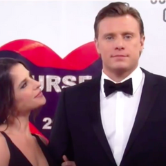Jason and Sam on the red carpet