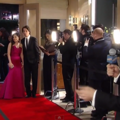 Sam and Silas arrive on the red carpet