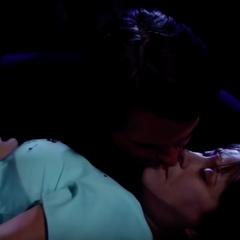 Patrick kisses Robin awake