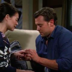 Putting the ring back on Liz's finger