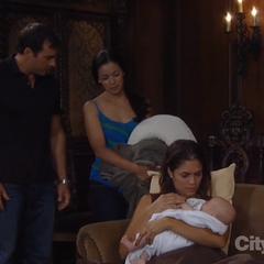 Britt holds Rocco