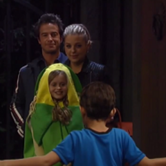 Joss celebrates Beggar's Night with uncle Lucas and Maxie