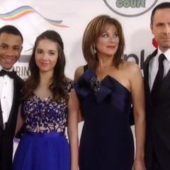 TJ, Molly, Alexis and Julian on the red carpet