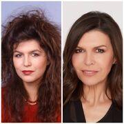 Anna Devane-Finola Hughes then & now