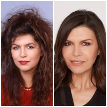 Anna Devane-Finola Hughes then & now