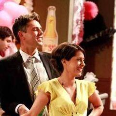 Robin and Patrick at Maxie's wedding (2009)