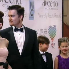 Elizabeth, Ric, Cameron and Emma on the red carpet
