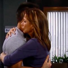 Comforting Julian over Ava