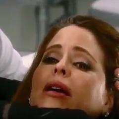 Olivia during labor
