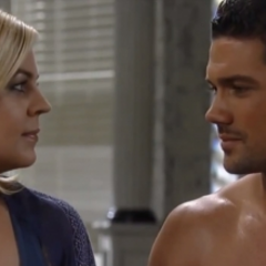 Nathan and Maxie have a moment