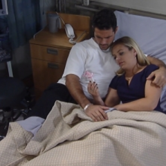 Nathan and Maxie cuddle and he makes her a promise