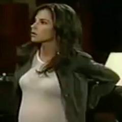 Sam during her pregnancy