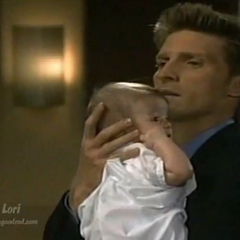 Jason holds Baby Lila in her fantasy