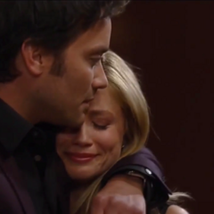 Lante hugging after they find out Rocco is theirs (2014)