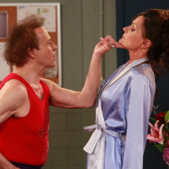 Richard Simmons arguing with Lucy Coe