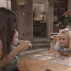 Christina plays cards with Serena and Lucy