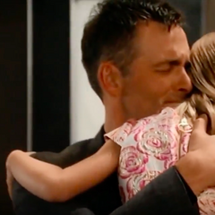 Charlotte reunites with her papa again