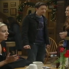 Spinelli and Ellie at Kelly's with a hormonal Maxie