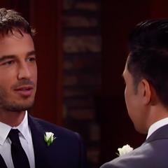 Lucas says his vows to Brad