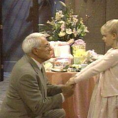Serena and grandpa Lee
