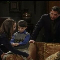Nikolas with son Spencer and cousin Kristina