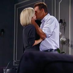 Jax and Carly kiss