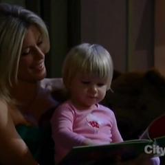 Carly reads to Josslyn
