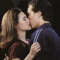 Lucky and Elizabeth's first kiss