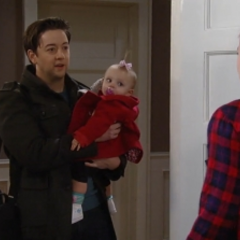 Georgie and her dad (Harper Rose Barash's first appearance)