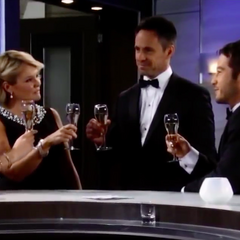 The Jerome family toasts to Julian and Alexis' wedding