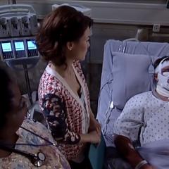 Elizabeth watches over Jason (Miller)