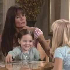 Christina plays with her mom and sister