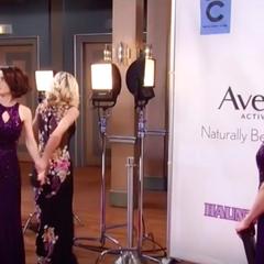 Elizabeth and Hayden show up in the same dress