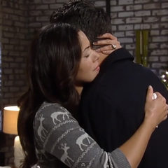 Patrick and Sabrina hug after the break up