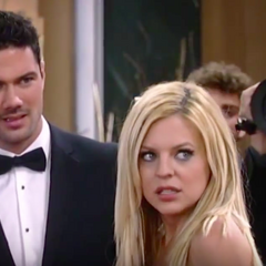 Nathan and Maxie on the red carpet at the 2015 Nurses' Ball