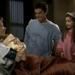 Kristina with her mom, sister, Molly and her ex-stepfather, Ric (meeting Molly)