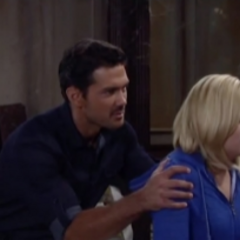 Nathan holds Maxie back