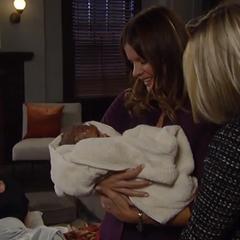 Nina and Madeline take the baby