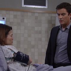 Ric visits Elizabeth in the hospital