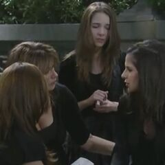 Sam talks about Lila with her mom and sisters (2012).