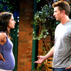 Sam and Jason during her pregnancy