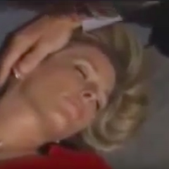 Carly unconscious after the fall